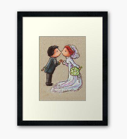 Wedding Kiss Framed Print
