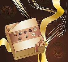 Brown Background with Chocolate Box 2 by AnnArtshock