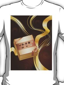 Brown Background with Chocolate Box 2 T-Shirt