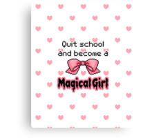 kawaii quit school become a magical girl melty text Canvas Print