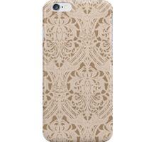 Brown Patterned Wallpaper iPhone Case/Skin