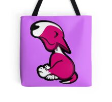 Innocent English Bull Terrier Puppy Pink  Tote Bag