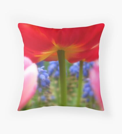 Under the Tulips Throw Pillow