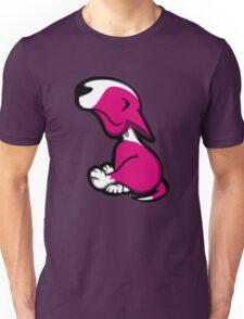 Innocent English Bull Terrier Puppy Pink  Unisex T-Shirt