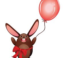 Chocolate Bunny with Balloon 2 by AnnArtshock