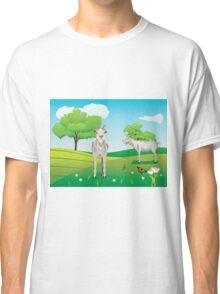 Goat and Green Lawn3 Classic T-Shirt