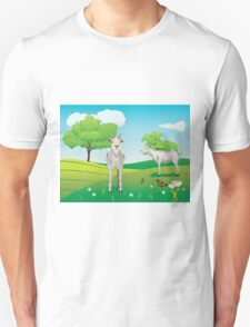 Goat and Green Lawn3 T-Shirt