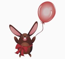 Chocolate Bunny with Balloon 2 Kids Clothes