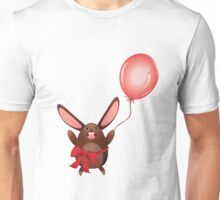 Chocolate Bunny with Balloon 2 Unisex T-Shirt