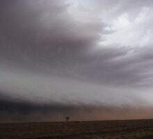 Australian outback dust sucked into approaching storm by jdeguara