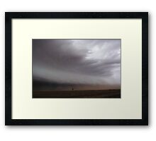 Australian outback dust sucked into approaching storm Framed Print