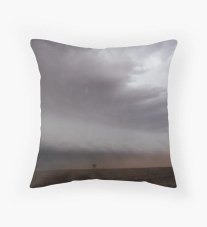 Australian outback dust sucked into approaching storm Throw Pillow