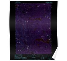 Maine USGS Historical Map Monson West 102765 1989 24000 Inversion Poster