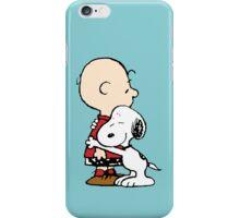 Charlie hugs Snoopy iPhone Case/Skin