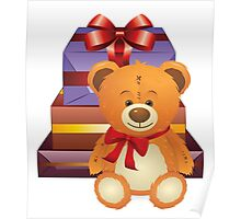 Teddy Bear with Gift Box 2 Poster