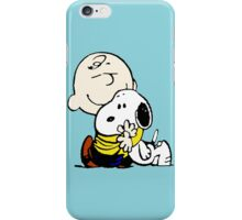 Charlie Brown hugs Snoopy iPhone Case/Skin