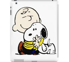 Charlie Brown hugs Snoopy iPad Case/Skin