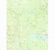 Maine USGS Historical Map Monson West 102765 1989 24000 by wetdryvac