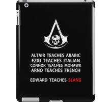 Assassins Creed Language Teachers iPad Case/Skin