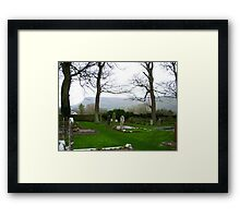 Drumcliff Cemetery in Sligo, Ireland Framed Print