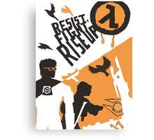 Resist - Fight - Riseup Canvas Print