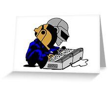 Daft Punk Peanuts Greeting Card