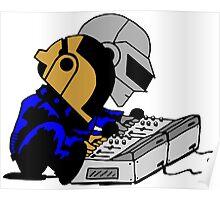 Daft Punk Peanuts Poster