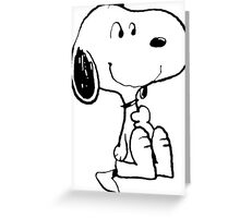 Snoopy smiling Greeting Card