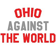 Ohio against the world - scarlet and gray Photographic Print