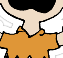 Charlie Brown crying Sticker