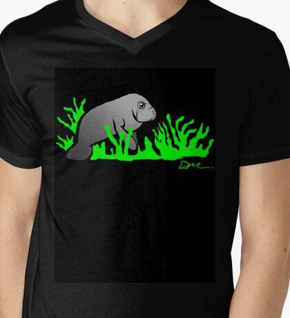 Dugong feeding time! Mens V-Neck T-Shirt