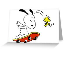 Snoopy on skate Greeting Card