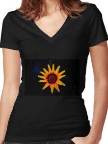 Shinning Star Women's Fitted V-Neck T-Shirt