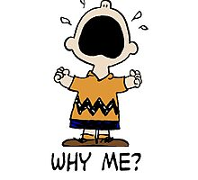 Why me? Charlie Brown Photographic Print