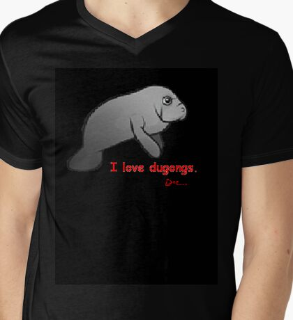 I love dugongs. Mens V-Neck T-Shirt