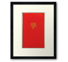 Vintage red bookcover with grapes Framed Print