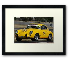 Racing Yellow Framed Print