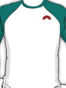Subtle pokeball pokemon logo red and black - no words T-Shirt