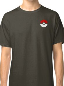 Subtle pokeball pokemon logo red and black - no words Classic T-Shirt