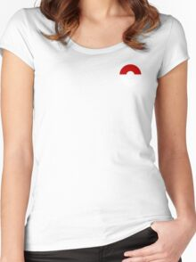 Subtle pokeball pokemon logo red and black - no words Women's Fitted Scoop T-Shirt