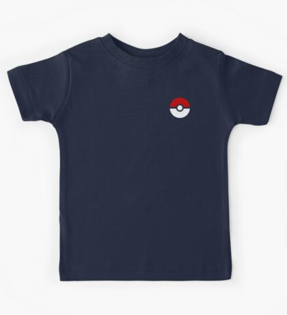 Subtle pokeball pokemon logo red and black - no words Kids Tee