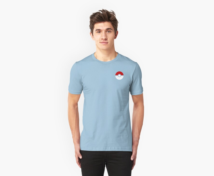 Subtle pokeball pokemon logo red and black - no words by hellohappy