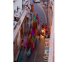 Saris in Bundi Photographic Print