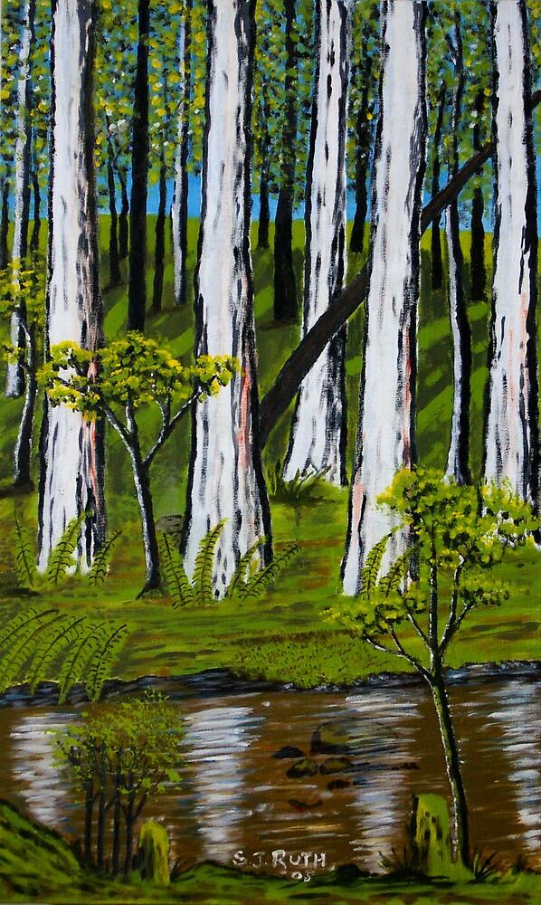 Latrobe River near Noojee by Samuel Ruth