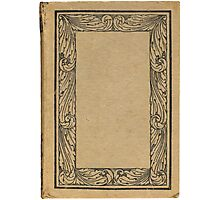 Antique bookcover with floral frame Photographic Print