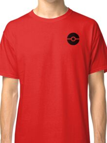 Subtle pokeball pokemon logo black - no words Classic T-Shirt