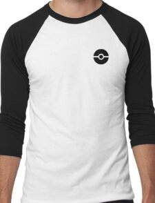 Subtle pokeball pokemon logo black - no words Men's Baseball ¾ T-Shirt