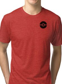 Subtle pokeball pokemon logo black - no words Tri-blend T-Shirt