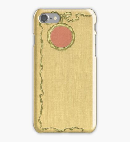 Antique Book with illustration of a golden ribbon iPhone Case/Skin
