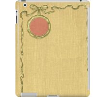 Antique Book with illustration of a golden ribbon iPad Case/Skin